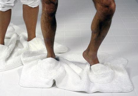 Dywaniki zapewniają uczucie komfortu pod stopami